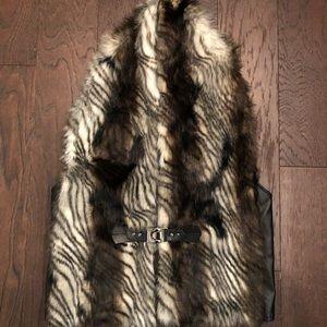 Simon Chang faux fur vest